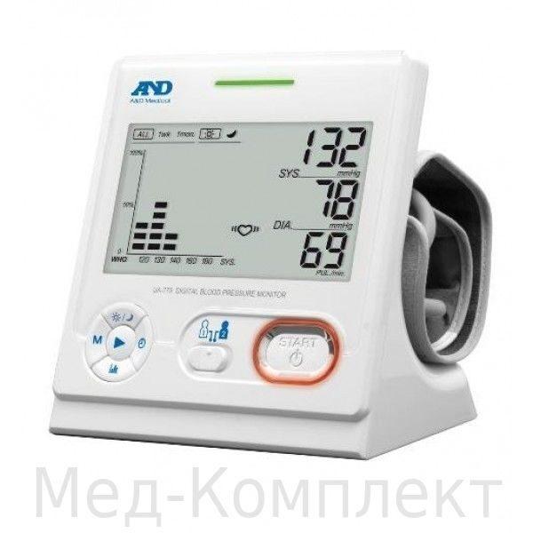 Автоматический тонометр - кардиоцентр AND UA-779 с манжетой на плечо.